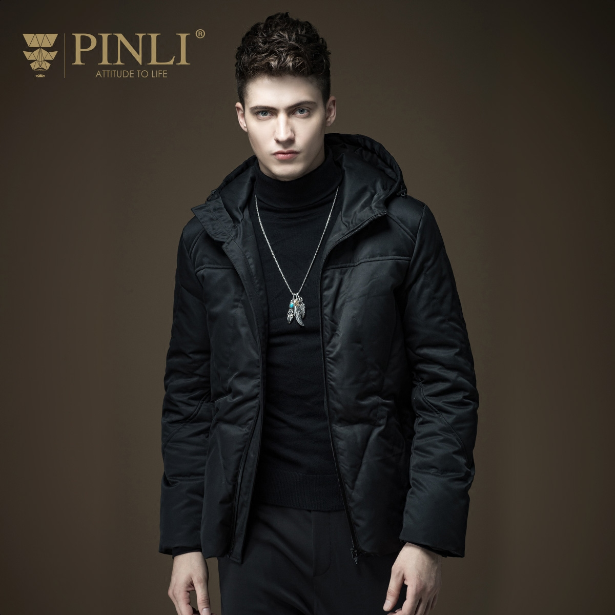 Winter Jacket Men Real Standard Pinli 2016 Autumn New Arrival Male Short Design Thermal With A Hood Coat Outerwear D163608010