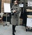 Genuine mink suéter de cachemira mujeres cardigan de punto larga chaqueta de abrigo de piel de envío libre 611