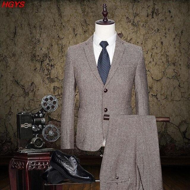 Novo 2017 homens terno cor pura cultivar a moralidade da moda ternos Do noivo vestido de Duas peças