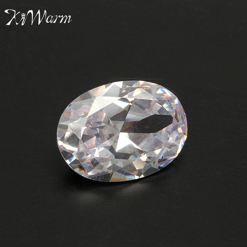 KiWarm Modern White Sapphire Oval Shape Loose Gemstone Unheated Naked Stone for Jewellery Making Crafts DIY Material 18X25mm