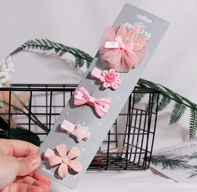5pcs New Cute Flower Princess Hairpin for Children 5