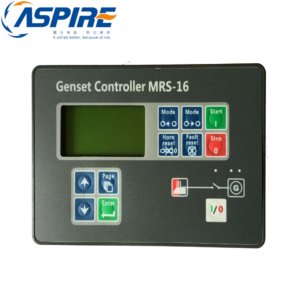 Automatic Generator Genset Controller MRS16 Generator Controller Auto Start Control Module free shipping dse7220 engine generator controller module auto start control suit for any diesel generator