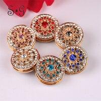 12pcs Lot Crystal Brooch Pin Women Simulated Diamond Scarf Alloy Jewelry Vintage Charm Style Corsage Rhinestone