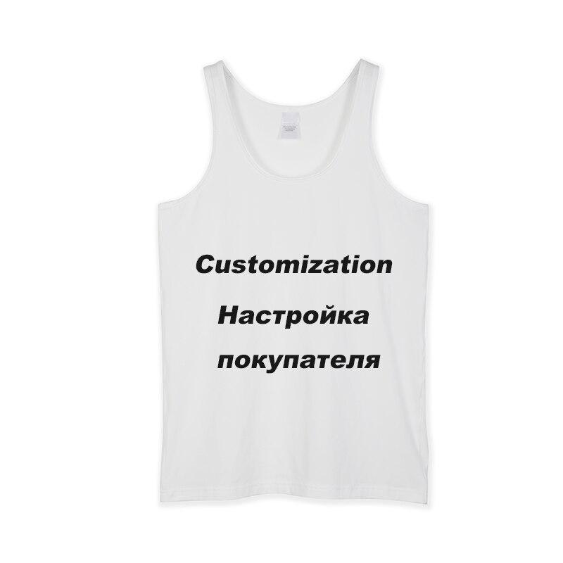 Customed Imprimé débardeur pour homme hauts Gym Fitness t-shirt sans manches gilet de musculation Maillot Modis Stringer vêtements pour homme