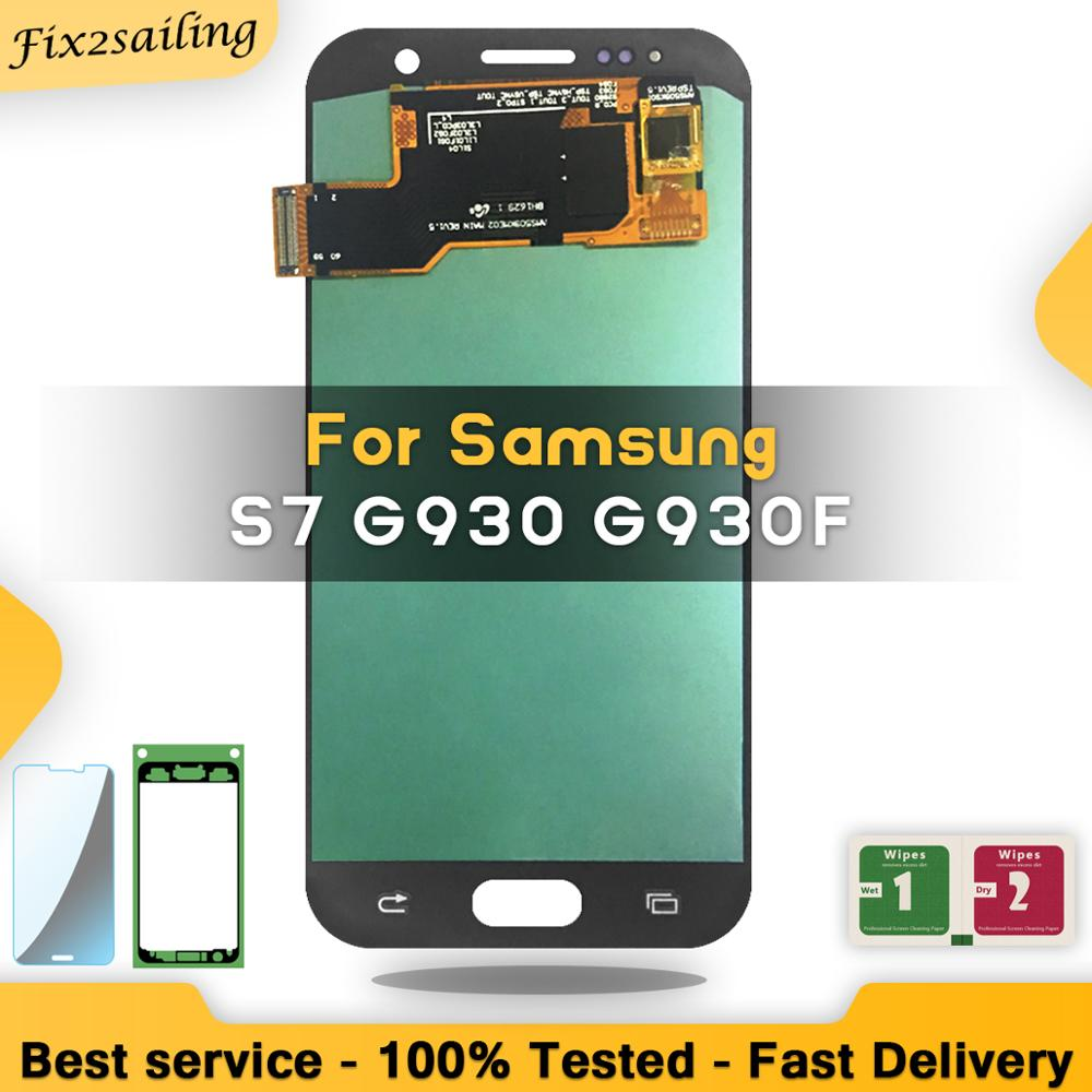 5.1'' SUPER AMOLED LCD For Samsung Galaxy S7 G930 G930F Display Touch Screen Digitizer Assembly Replacement
