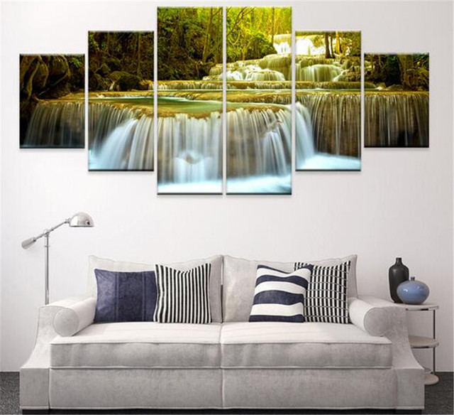 Canvas oil painting decoracion multi panel 6 piece wall art pictures ...