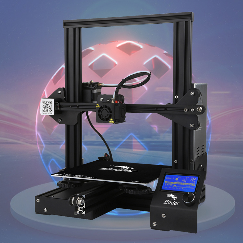 Ender 3 3D printer DIY Kit V slot Large Size I3 mini printer 3D Continuation Print power 110C add glass for hotbed Creality 3D