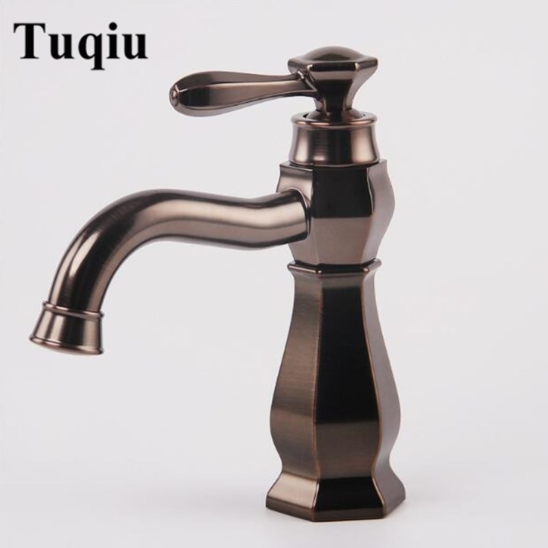 New Europe style Basin Faucet ORB finished Brass Bathroom Sink Faucet single lever hot and cold basin faucet unique design new arrival total brass high quality unique design black finished hot and cold basin faucet sink faucet bathroom basin tap