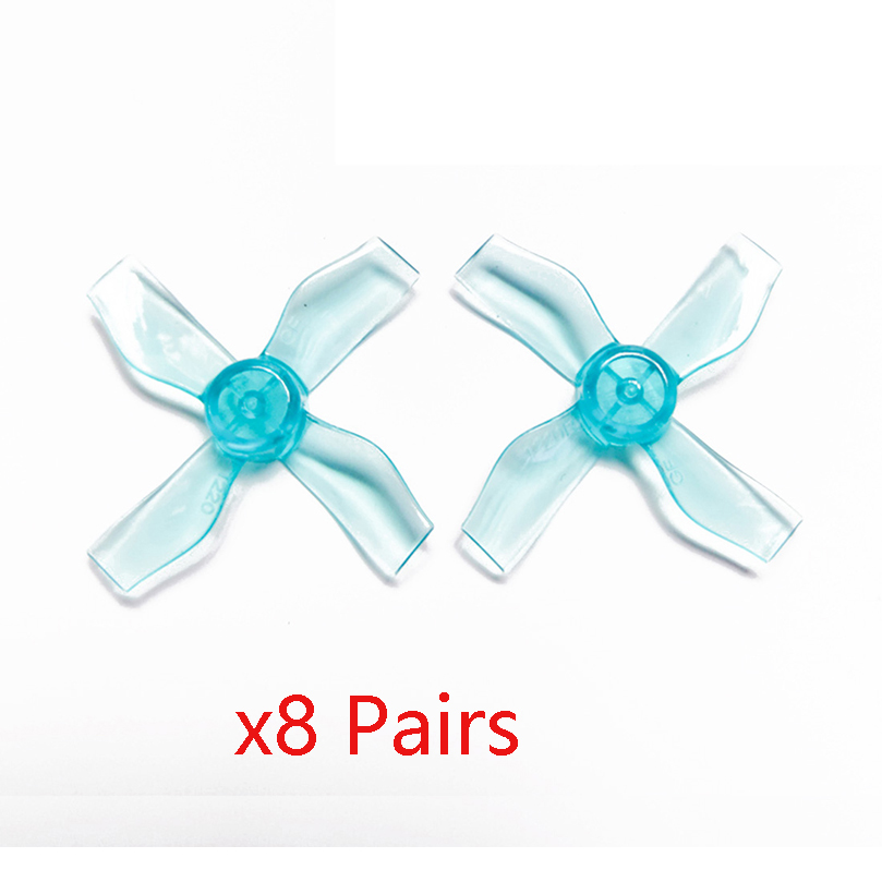 8Pairs GEMFAN <font><b>1220</b></font> 1.2x2x4 31mm 1mm Hole 4-blade Propeller PC CW CCW Props for 0703-1103 RC Drone FPV Racing Brushless <font><b>Motor</b></font> image