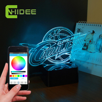 CNHidee NEW Design For NBA Cavaliers 3D Desk LED Night Lights Bluetooth Music LED Table Lamps