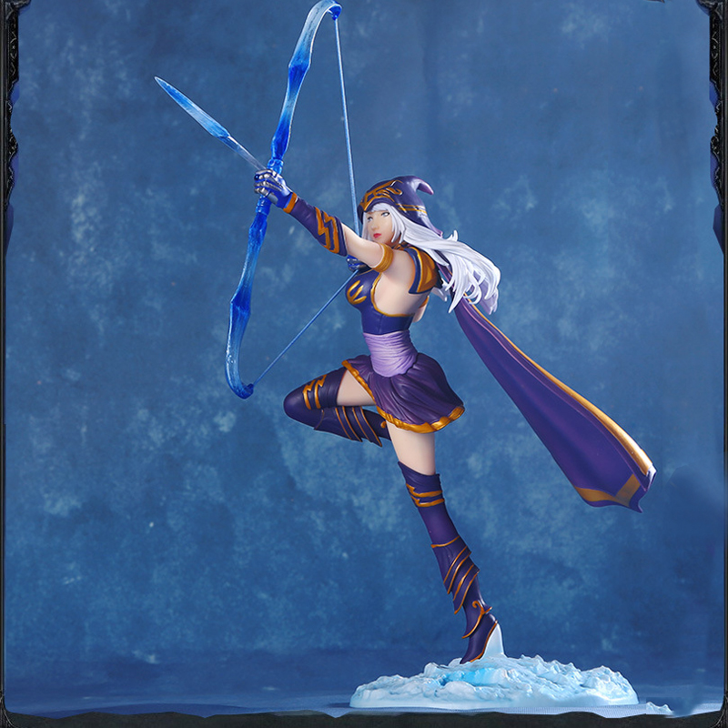 LOL League of Legends figure Action Game Ashe Model Toy action-figure 3D Game Heros anime party decor boy Creative Gift