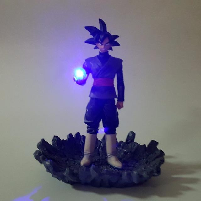 Goku Black Light Up Dragon Ball Z Black Son Zamasu LED Light Up (15 CM) dbz