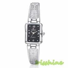 Irisshine i0601 Леди Округлость shell Сплава Браслет Наручные Часы Девушки Женщин Подарочные женские часы Подарок