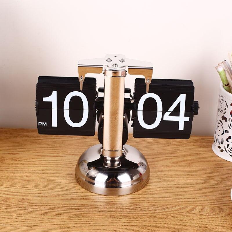Vintage rétro Auto Flip numérique moderne bureau en métal support horloge maison bricolage décor
