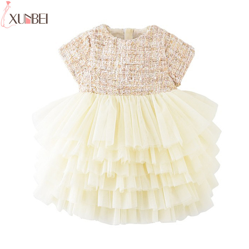 Lovely Tiered   Flower     Girl     Dresses   2019 Tulle Pageant   Dresses     Girls   Kids Prom   Dresses   First Communion   Dresses   robe fille mariage