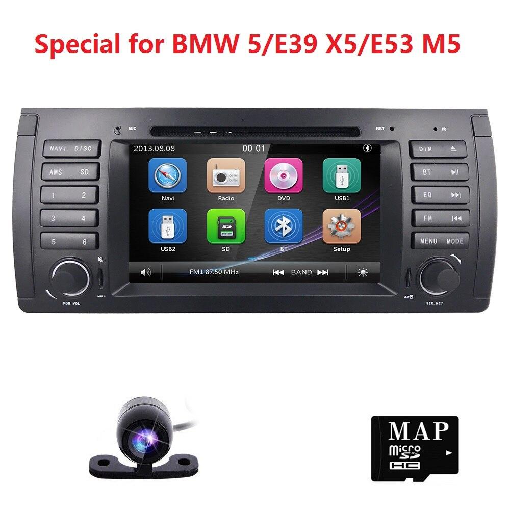 ''AUTOMOBILE DVD GPS Auto navi Stereo Radio unità di Testa per BMW 5 Serie E39 E53 E38 M5 X5 GPS Bluetooth radio RDS USB SD volante