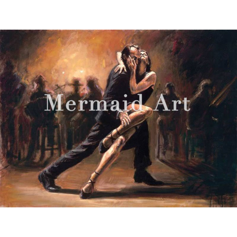Artist Handmade tango art Spanish Flamenco Dancing tango Oil Paintings On Canvas Flamenco Dancer wall decor abstract Decorative