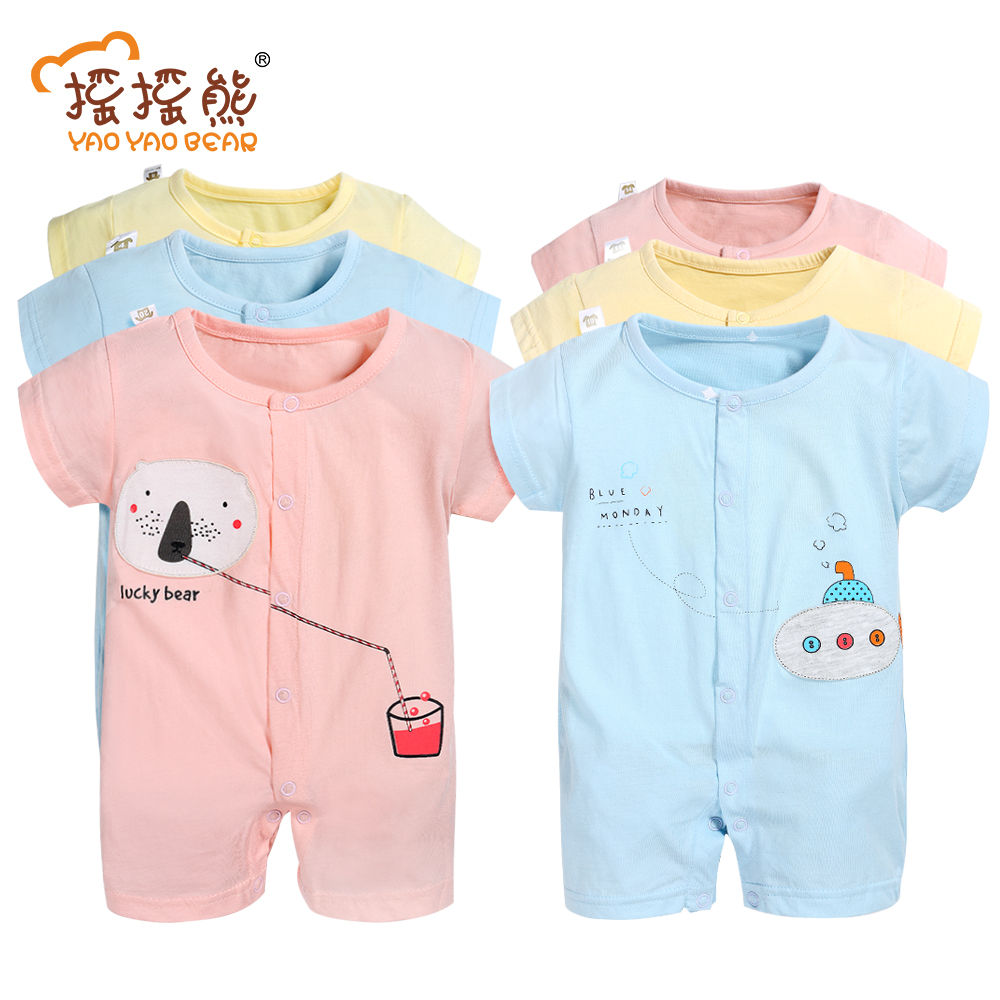 Baby Clothes 2pcs/lot 2017 Baby Boys Girls Clothes Infant Clothes Animal 100% Cotton Newborn Baby Rompers Baby Clothing Set 2 pcs lot newborn baby girls clothing set cute pink cotton baby rompers boys jumpsuit roupas de infantil overalls coveralls