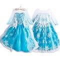 Envío gratis hermosos vestidos de princesa de Navidad Vestidos de Las Muchachas al por menor Anna y Elsa coronación vestido de fiesta