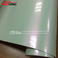 Glossy Chameleon Pearl White to Pink New Arrived Vinyl Wrap Sticker 1.52*20m with air free bubbles by free shipping