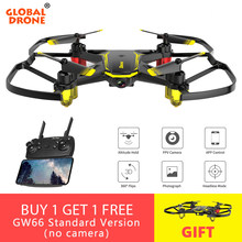 Global Drone GW66 Mini Drone FPV Drones with Camera RC Helicopter Quadcopter Remote Control Quadrocopter Dron Toys for Boys Kids(China)