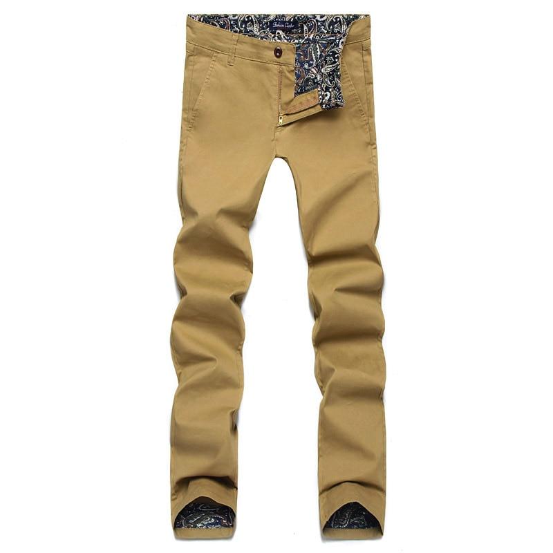 पुरुषों की पैंट 2018 नई वसंत फैशन आकस्मिक पुरुषों की पैंट स्लिम फिट व्यापार डिजाइन पुरुषों की पतलून उच्च गुणवत्ता वाले कपास पैंट सेना 28 - 46