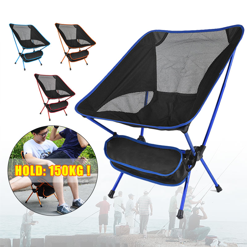 Portable Folding Fishing Chair Camping BBQ Tool Breathable Hiking Seat Furniture Garden Ultralight Outdoor Compact Fishing Chair Fishing Chairs     - title=