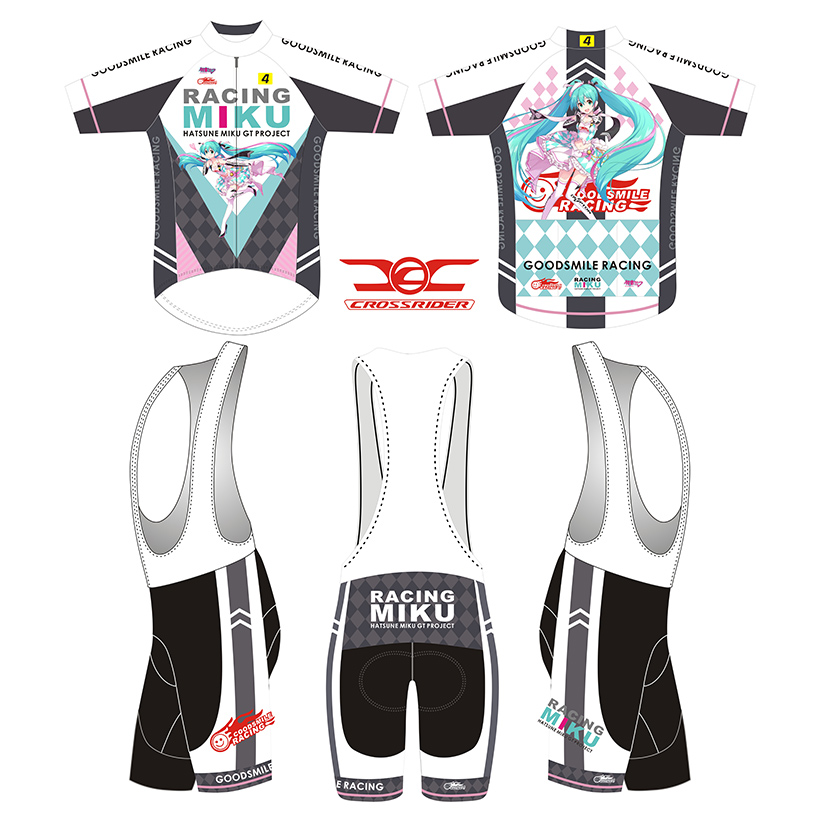 Crossrider 2019 Racing MIKU Mens Short Cycling Jersey Bib Set MTB Mountain Bike clothing Japan Bicycle Shirt Bike wear CYC-28