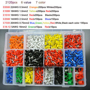Image 2 - Набор зажимов для шнура, 7 цветов, 6 значений, 2120 шт./лот