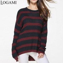 LOGAMI cuello redondo manga larga suéteres de punto para mujer Otoño  Invierno mujer jerseys Pull Femme 5b4bcec0103b