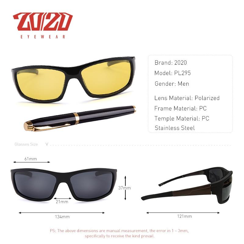 20/20 New Night Vision Solglasögon Män Brand Designer Designer - Kläder tillbehör - Foto 3