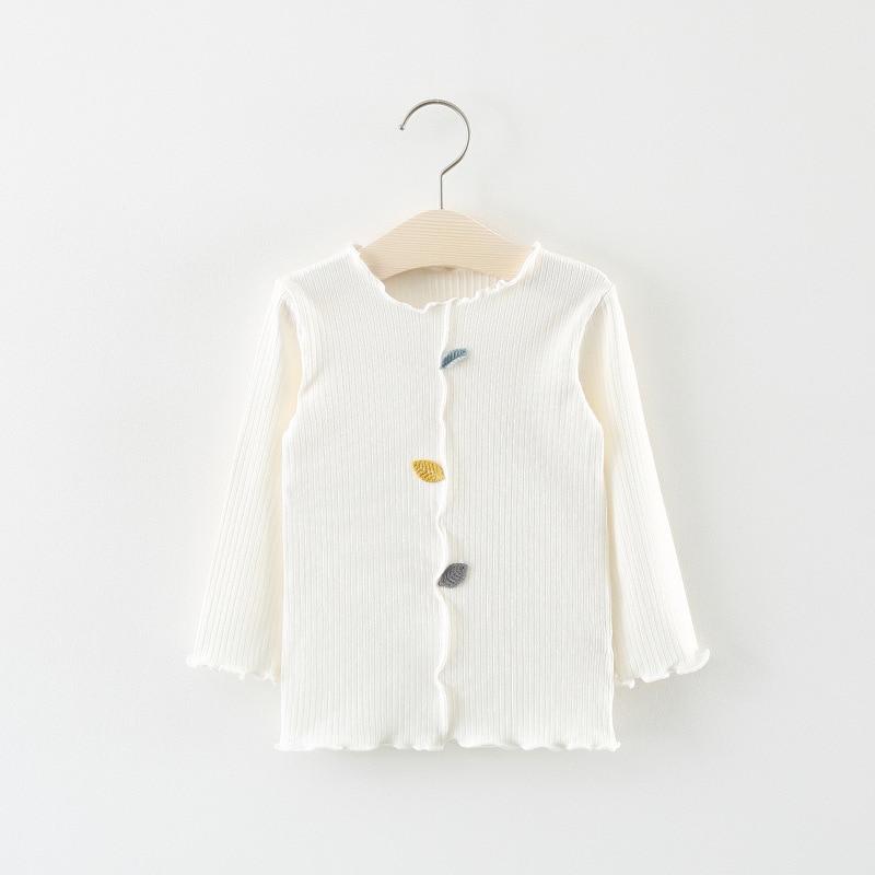 Brief Girls Long Sleeve Tops Cotton Kids Tshirt Cute Girls Shirt