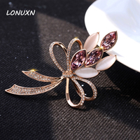 45*80mm Simple girls purple Crystal Flower Large Brooch Brooches pins Wedding Jewelry Corsage Dress Coat Accessories women gift