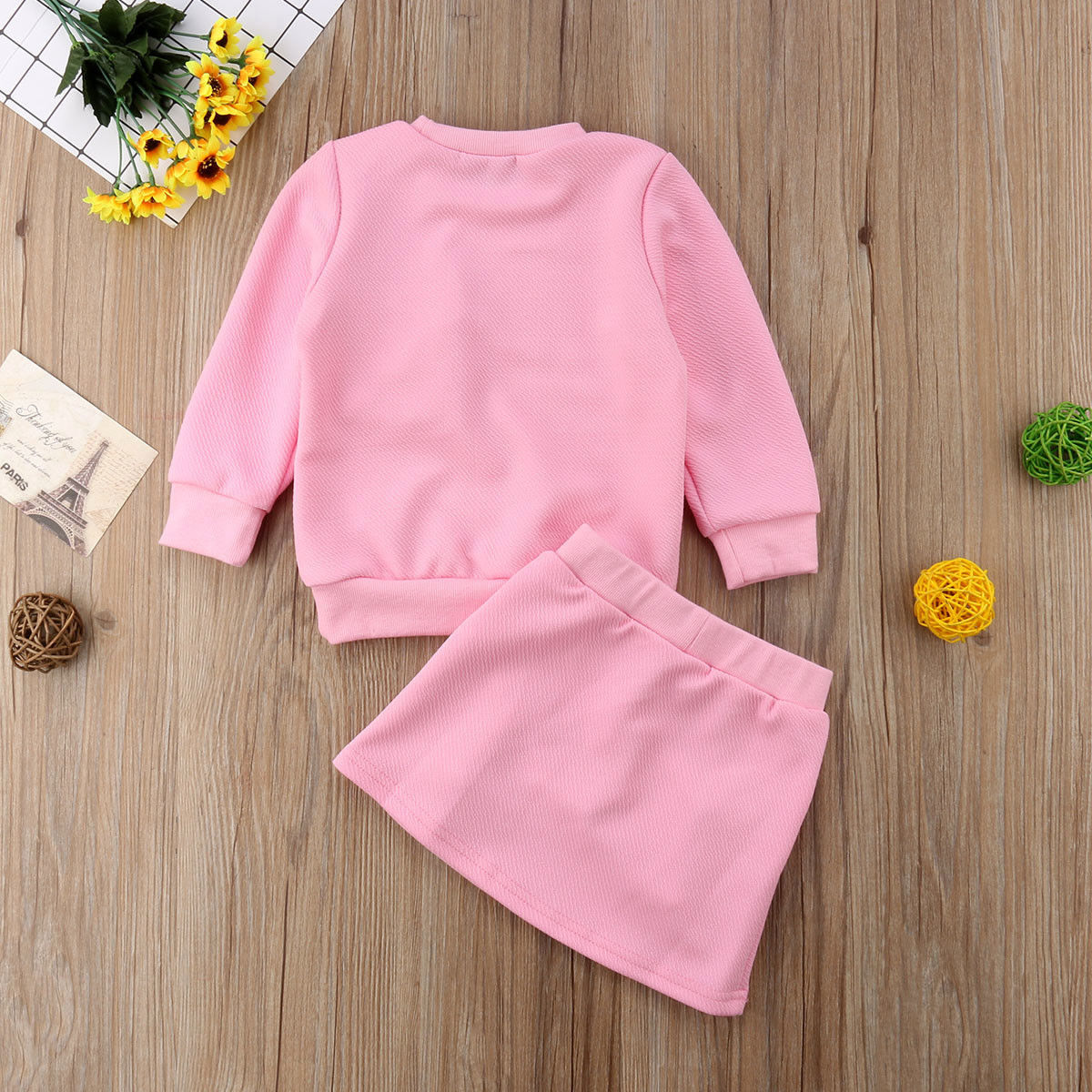 Newborn Baby Girls Outfits Long Sleeve Shirt Skirts Tassel Pink Red Blue Fall Spring Winter Clothes Set in Clothing Sets from Mother Kids