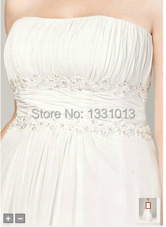 fb0a91c87c04 2016 Chiffon Wedding Dresses A line with Beaded Lace on Empire Style 9V9743  Wedding Dresses-in Wedding Dresses from Weddings & Events on Aliexpress.com  ...