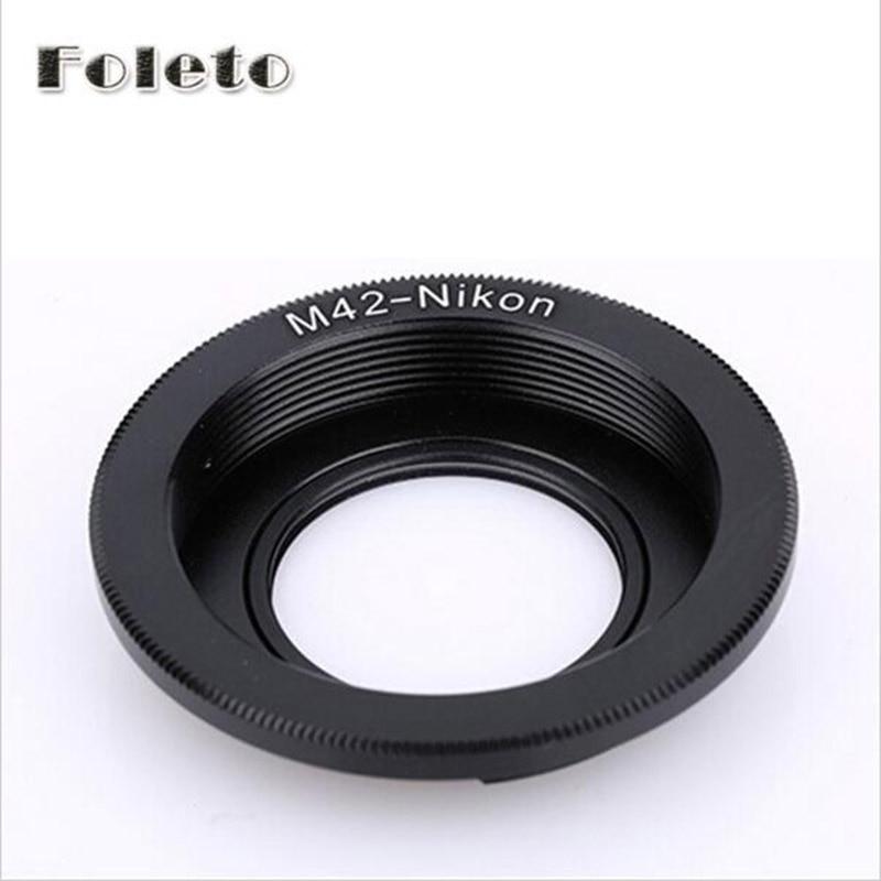 Foleto Focus Glass M42 Lenses Lens Adapter Ring For M42 Lens To For NIKON Mount Adapter D5100 D3100 D3300 D90 D80 D700 D300 D3