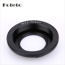 Foleto Focus Glass M42 Lenses Lens Adapter Ring For to for NIKON Mount with Infinity focus