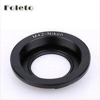 Foleto foco lente de vidro m42 lente adaptador anel para lente m42 para nikon adaptador de montagem d5100 d3100 d3300 d90 d80 d700 d300 d3|lens adapter ring|adapter ring|lens adapter -