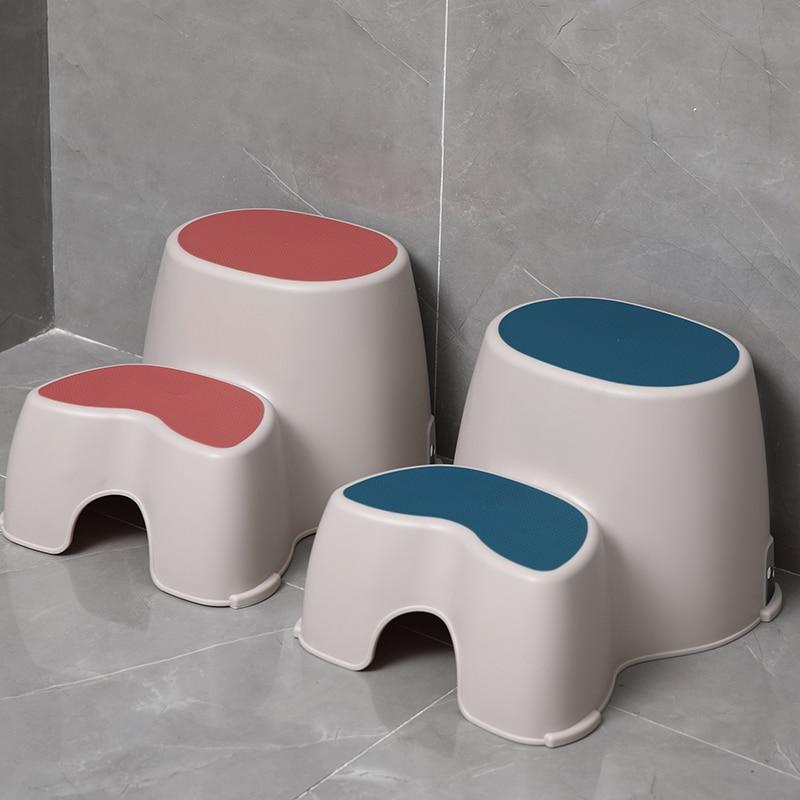 Plastic Children Stool Washbasin Footstool Baby Wash Stool Bathroom Anti-skid Step Ladder 2 Step Stool
