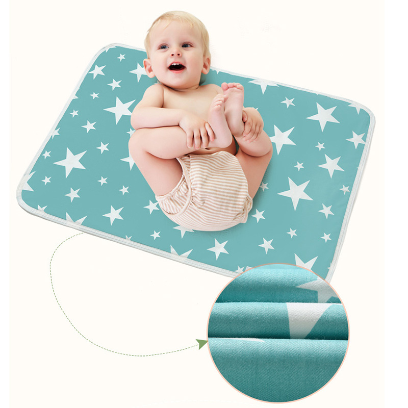 Baby Changing Pad Cover Cotton Portable Travel Nappy Diaper Changer Stroller Mattress Game Floor Mat Babies Diaper Changing Mats