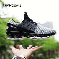 Men Sneakers Shock Absorption Casual Shoes Without Lace Mesh Comfortable Men Shoes Autumn Fashion Flats Male Footwear Breathable