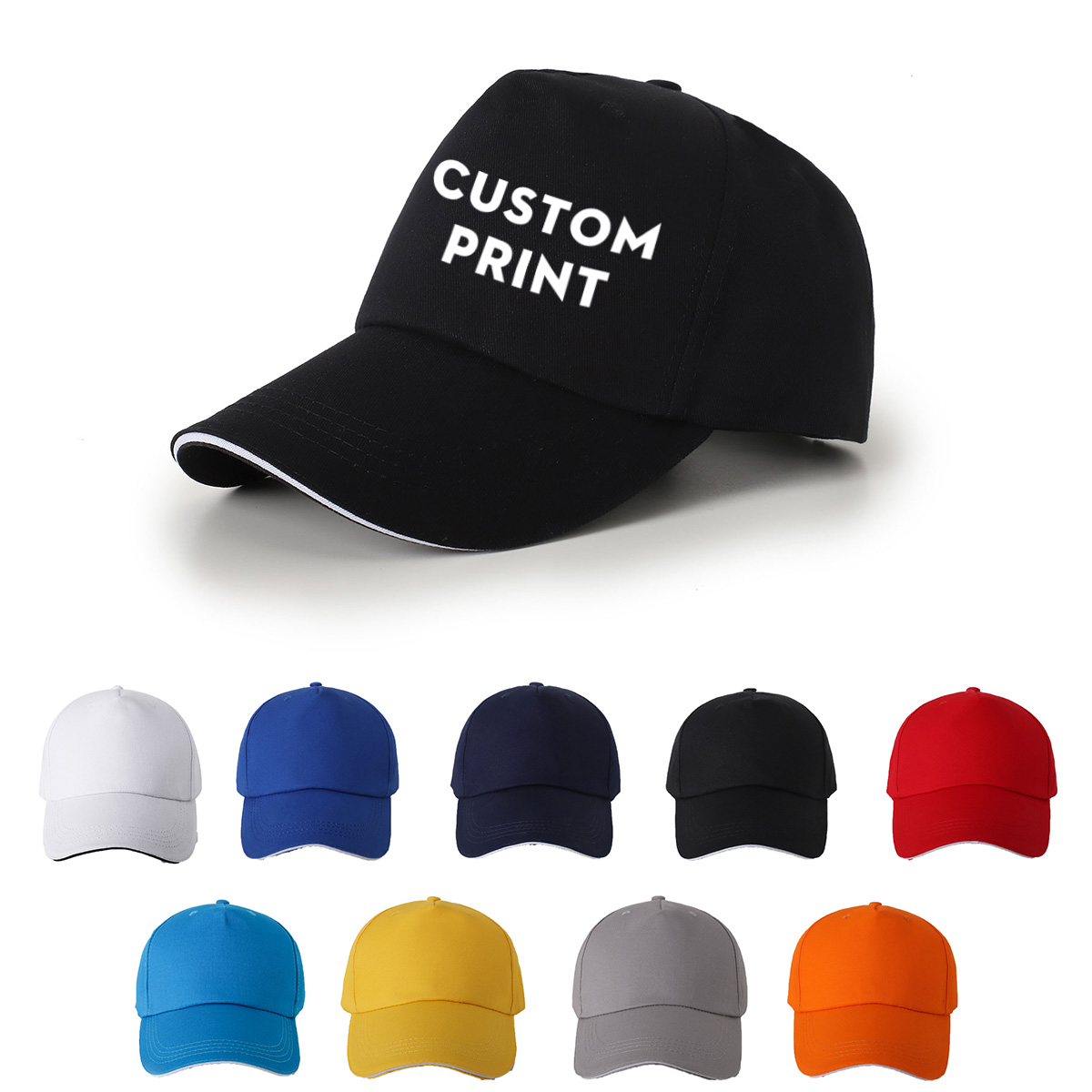 100% Cotton New Arrival Dad Hat   Baseball     Cap   Adjustble Hip Hop Sports Hats Unisex Casual   Caps   Men Custom Print Logo Sun Hat