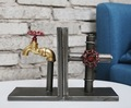 11x16x21cm  Vintage American country Loft industrial wind memory faucet Bookends