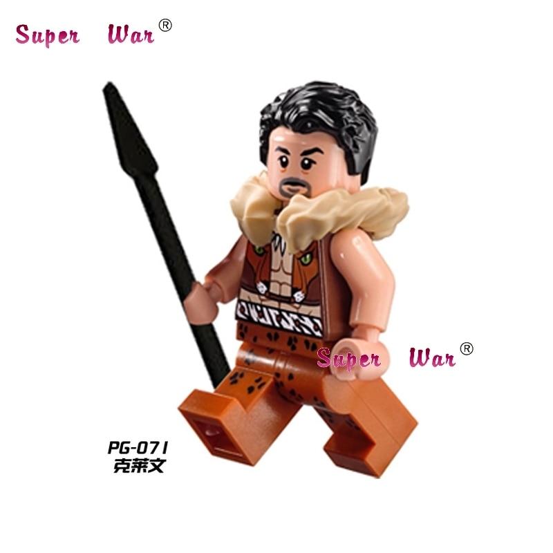 50pcs superhero Kraven The Hunter movie building blocks action bricks friends for girl boy house games