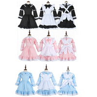Cosplay Vestido de La Princesa Dulce Alice Wonderland Maid Traje Niñas Disfraces De Halloween para Adultos