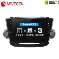 Asvegen Android 7 1 Octa Core Car Radio 2 Din Car Stereo Multimedia DVD For Toyota