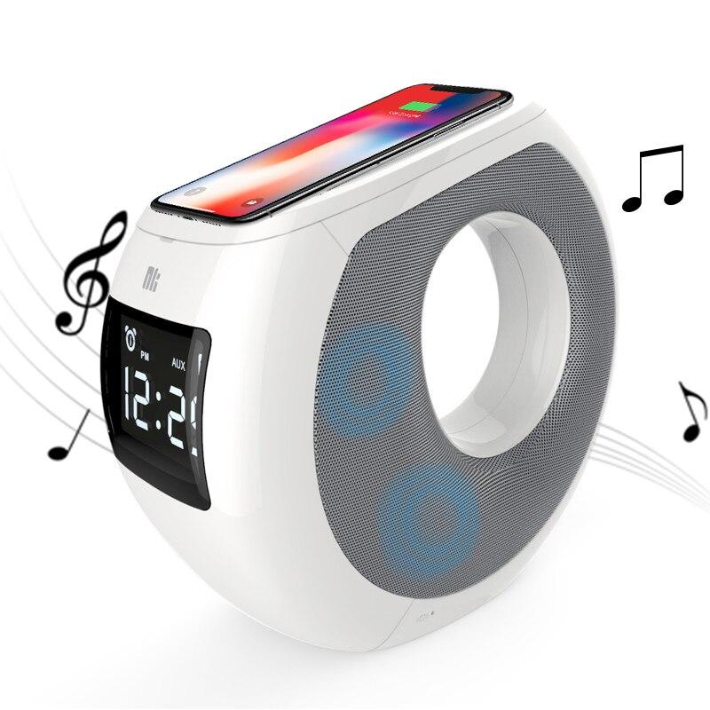Casa Bluetooth speaker caixa acústica surround NILLKIN qi carregador sem fio Pad Música MC1 Aconchegante para o iphone X/8/8 + para samsung para xiaomi