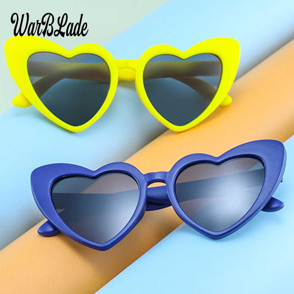 3c0d0e8e32 TR90 Kids Polarized Sunglasses Children Heart Sun Glasses Girls Boys  Silicone UV400 Child Mirror Baby Eyewear