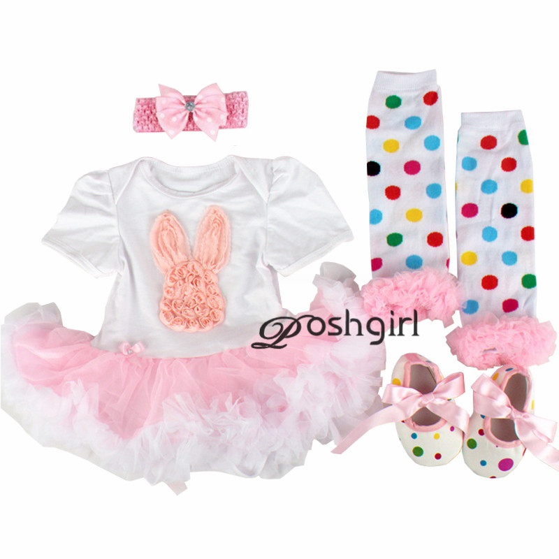 My First Easter Baby Girl Clothes Set Lace Romper Dress Headband Leg Warmers Crib Shoes Girls Rabbit Eggs Outfits Boutique Gifts new baby girl clothing sets infant easter lace tutu romper dress jumpersuit headband 2pcs set bebes first birthday costumes