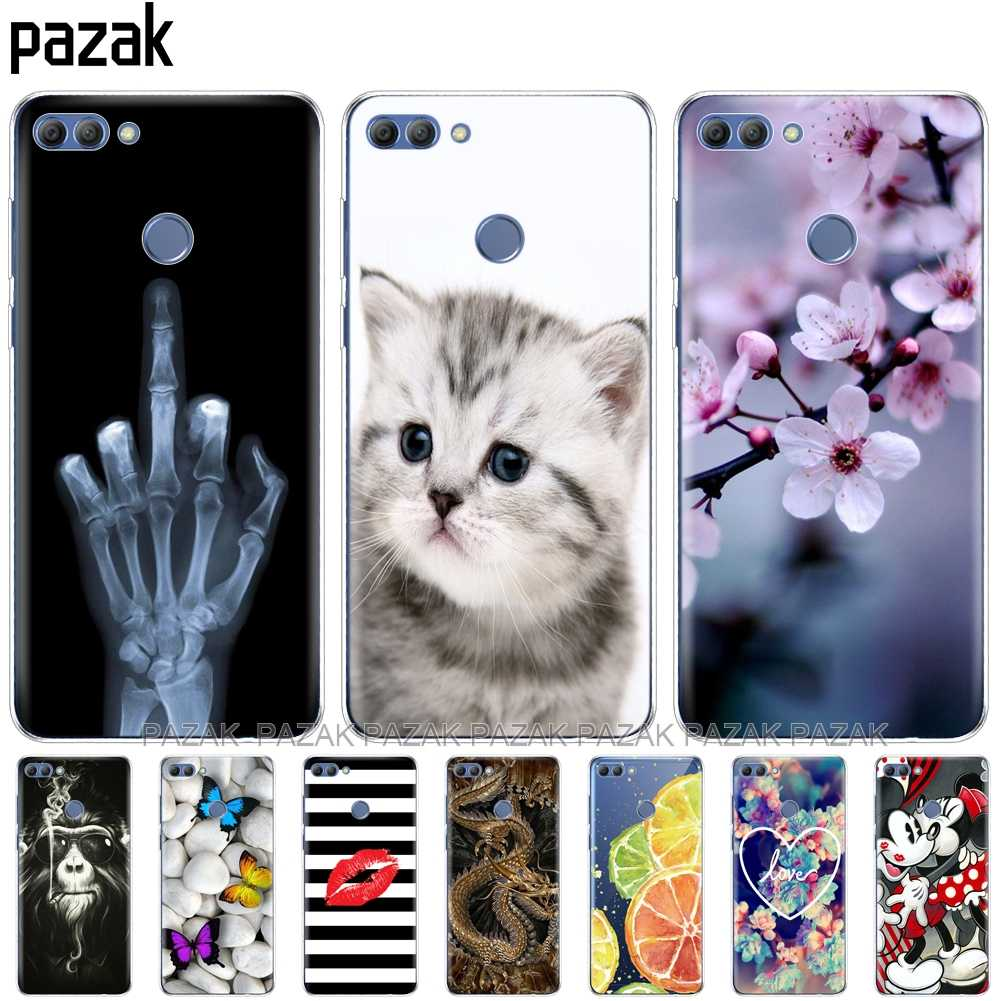 Silicone phone Case For huawei Y9 2018 cases soft TPU Phone Back cover full 360 Protective new design pop